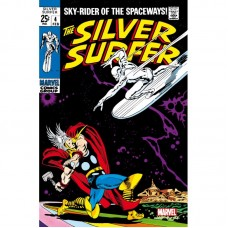 Marvel Comics Steel Covers Cartel de Metal Silver Surfer 4 17x26