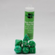 Role playing Dice Set 16 mm - Verde