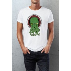 Cthulhu Camiseta Yellow Eyes blanco talla L
