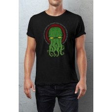 Cthulhu Camiseta Yellow Eyes negro