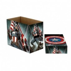 Marvel Short Comic Book Storage Box Captain America Stars 22 x 29 x 37cm