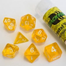 Blackfire Dice - 16mm Role Playing Dice Set - Crystal Yellow 7 Dice