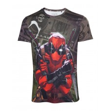 Deadpool Camiseta Dollar Bills - Talla M