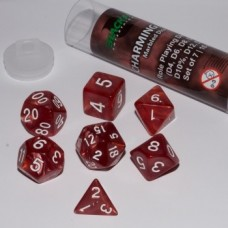 Blackfire Dice - 16mm Role Playing Dice Set - Charming Red 7 Dice