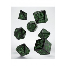 Call of Cthulhu 7th Edition Pack de Dados negro y verde (7)