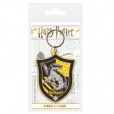 Pyramid Rubber Keychains - Harry Potter Hufflepuff