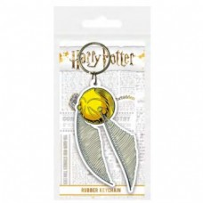 Pyramid Rubber Keychains - Harry Potter Snitch